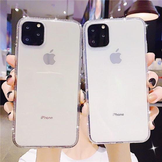 Transparent Soft Bling Diamond Case For iphone11 11 Pro Max XS Candy Color Transparent Soft Bling Diamond Case For iphone11 11 Pro Max XS X XS Max 6 6s 7 8 Plus TPU Purple Clear Cover Gift.