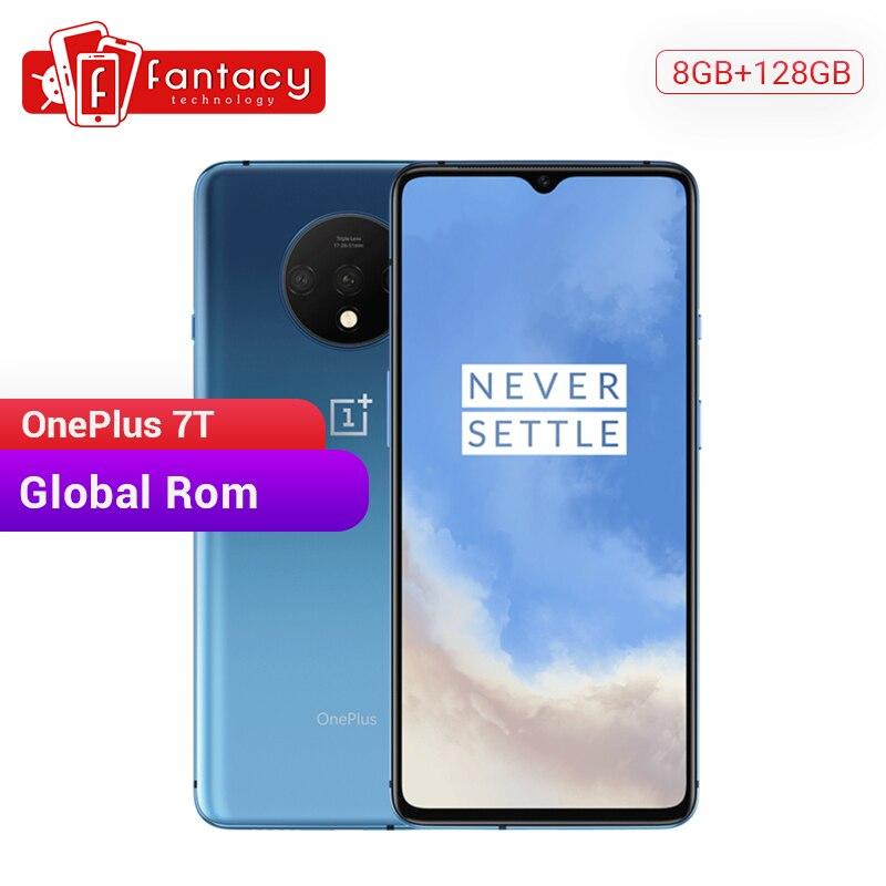 Global ROM OnePlus 7T 7 T 8GB 128GB Smartphone Snapdragon 855 Plus Octa Core 90Hz AMOLED Screen 48MP Triple Cameras NFC