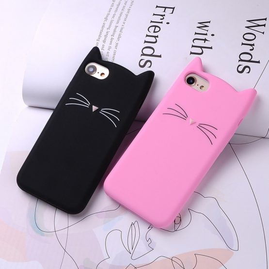 Smile Glitter Bearded Cat Case For iphone SE 5 5S 5C 6 6S 7 8 Plus X New Cute Smile Glitter Bearded Cat Case For iphone SE 5 5S 5C 6 6S 7 8 Plus X XR XS 10 Max Squishy Cat Cover Mobile Phone Bags.