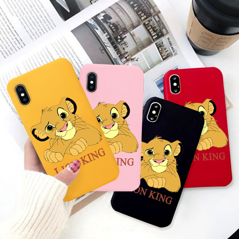 New Lion King 2019 Movie Colored Soft Silicone Phone Case for Iphone X XS XR XSMax 11 Pro Cute Cover for 6 7 8 Plus Coque Cover