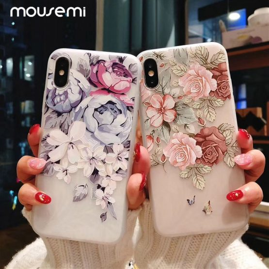 11 Pro Luxury 3D Silicone Case For iPhone 6 7 6S 8 Plus 5S SE X XS MAX XR 11 Pro Luxury 3D Silicone Case For iPhone 6 7 6S 8 Plus 5S SE X XS MAX XR Shockproof Flower Phone Case For iPhone 6 7 Case Girl.