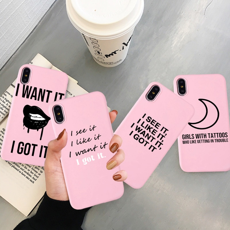 Fashion 7 Ring Ariana Grande Cute Print Silicone Back Pink Case for IPhone 11 Pro Max X XS MAX XR 8 7 6 6S Plus Cover Capa Funda