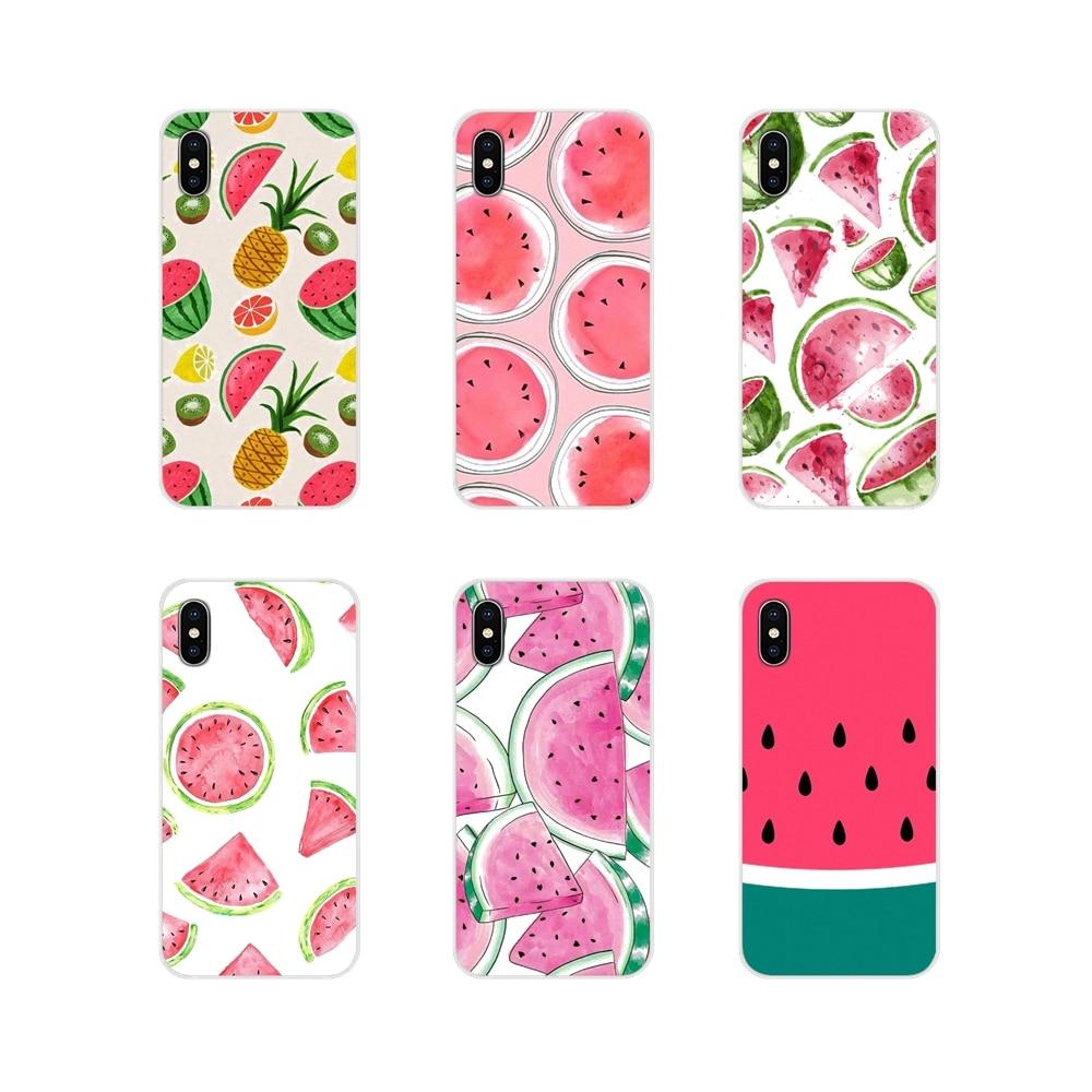 For Apple iPhone X XR XS 11Pro MAX 4S 5S 5C SE 6S 7 8 Plus ipod touch 5 6 Watermelon Fondo Sandia Verano Pattern Soft Case Cover