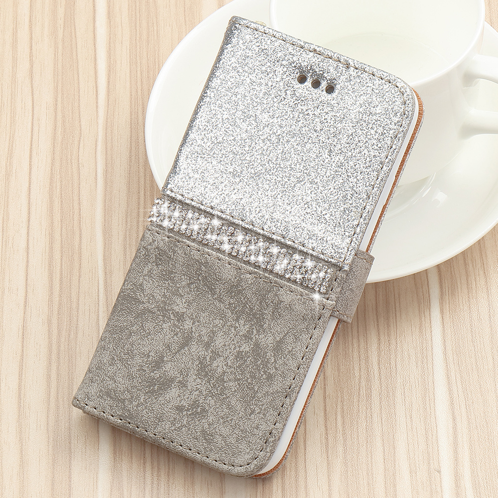 Bling Glitter Wallet Phone Case For iPhone X Xr Xs 11 Pro Max Leather Purse For Apple 6S 6 8 7 Plus 5 5S SE 360 Protective Cover