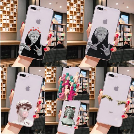 Alternative statue David art DIY Drawing Phone Case cover Shell for iPhone 11 pro max 6S 6plus 7 7plus 8 8Plus X Xs MAX 5 5S XR