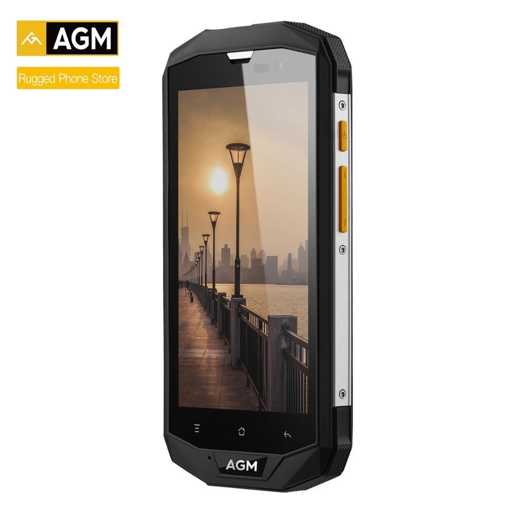 "AGM A8 5""4G+64G FDD-LTE Android 7.1 Mobile Phone 2SIM IP68 Rugged Phone Quad Core 13.0MP 4050mAh NEW NFC OTG Smartphone"