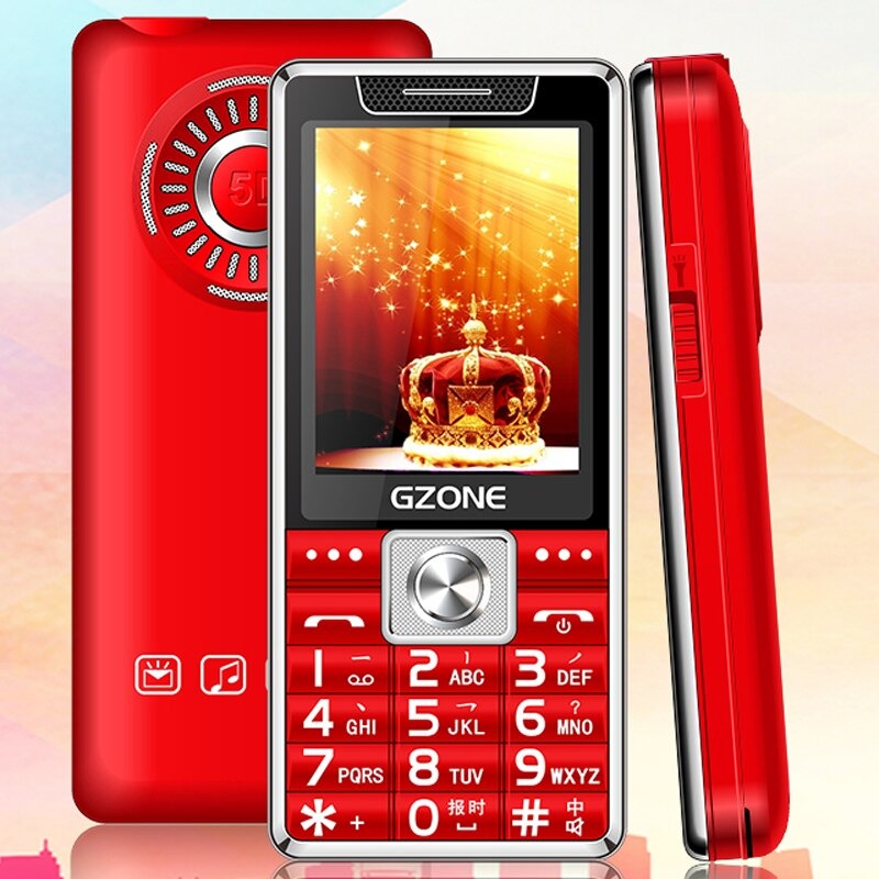 """Small Bar Mobile Phone 2.4"""" Display Flashlight Big Sound Fast Quick Call Large Keyboard Cellphone For Elder People Ebook Alarm"""