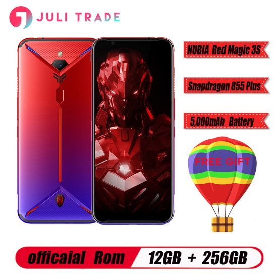"Global version Nubia Red Magic 3S Smartphone 12GB RAM 256GB ROM Snapdragon 855 Plus 6.65"" AMOLED 5000mAh Fast charge Game phone"