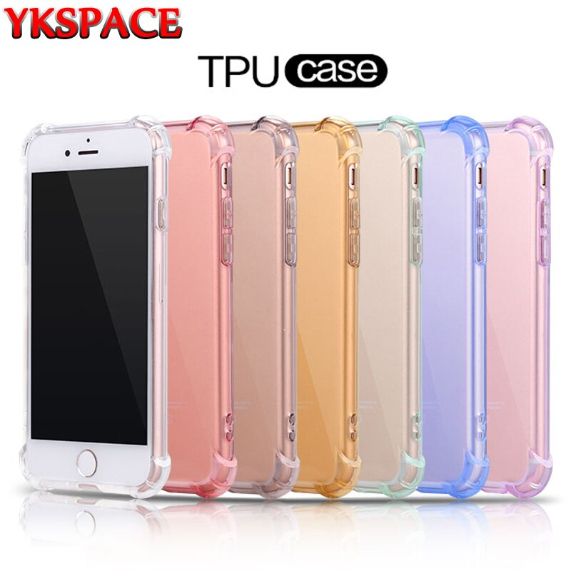 7 Colors Clear Soft Silicone TPU Case For iPhone 6 6S 7 8 Plus X XS MAX XR 11 Pro Max 5 5S SE Back Transparent Cover Anti Shock