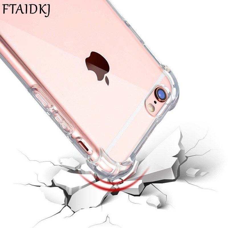 Fashion Shock Proof Phone Case For iPhone 11 Pro Max XS Max XR X Clear Soft Silicone Corner Protect TPU Cover For iPhone 8 7 6 6S Plus Capa