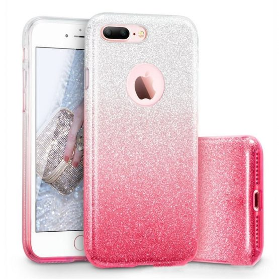 Glitter Hard PC Case For iPhone 7 6 6S Plus Star Cover Shining Phone Cases For iPhone 11 Pro 8 Plus XR XS MAX Capa 3 in 1 Coque