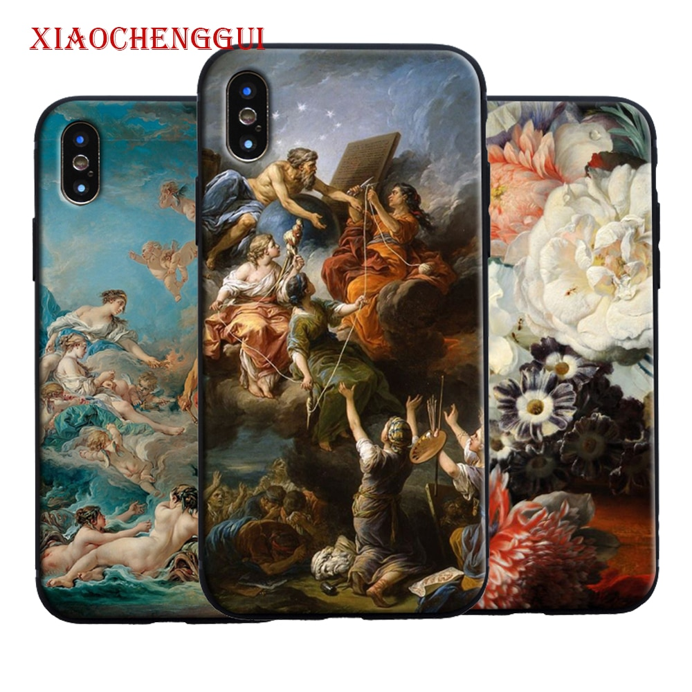Classic painting flower aesthetic Phone Case Cover Shell For Apple iPhone 5 Se 5s 6 6s 7 8 Plus 8Plus X XR XS MAX 11 pro max