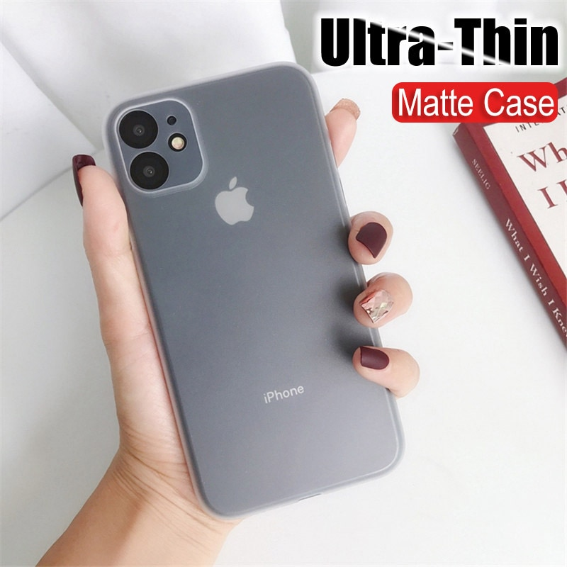 0.3mm Ultra Thin PP Case On The For Iphone 11 Pro XS Max X XR Full Cover For Iphone 7 8 6S 6 Plus Case 5 5S SE Slim Matte Coque