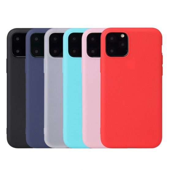 Rubber TPU Silicon Case For iPhone 11 Pro Max Candy Color Soft TPU Back Cover For Coque iPhone 5 5S 6 6S 78 Plus X XS XR Case