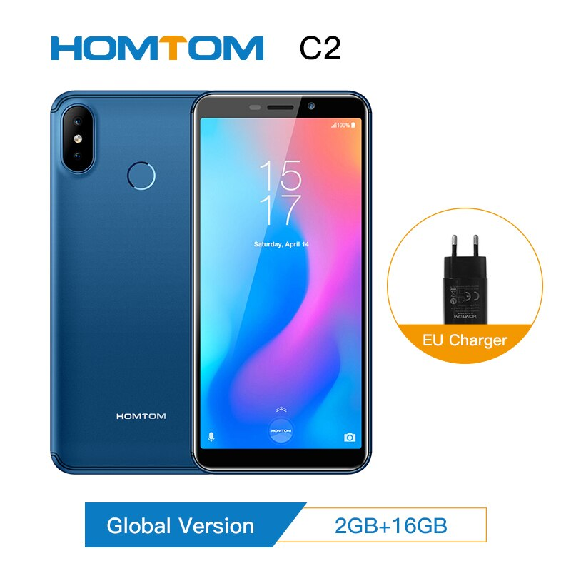 Original HOMTOM C2 Global version smartphone Android 8.1Mobile Phone Face ID 4G-LTE Quad Core13MP Dual Camera Cell Phone new