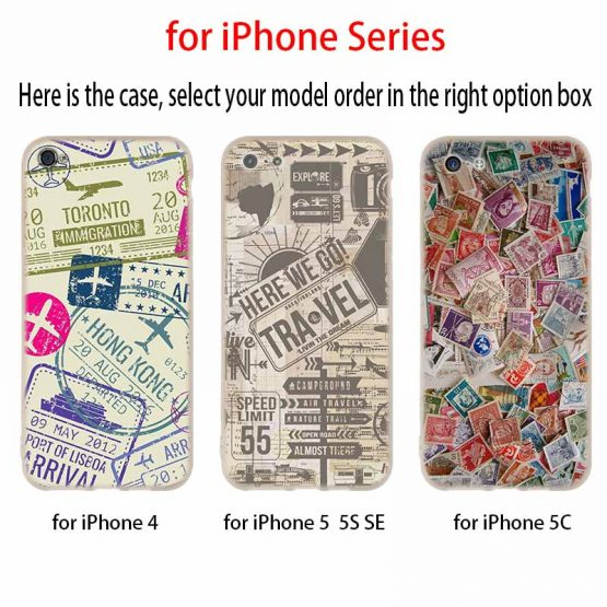 Phone Cases Silicone soft Cover for iPhone 11 Pro X XS Max XR 6 6S 7 8 Plus Phone Cases Silicone soft Cover for iPhone 11 Pro X XS Max XR 6 6S 7 8 Plus 5 4S SE Retro Post Card passport stamps Case.