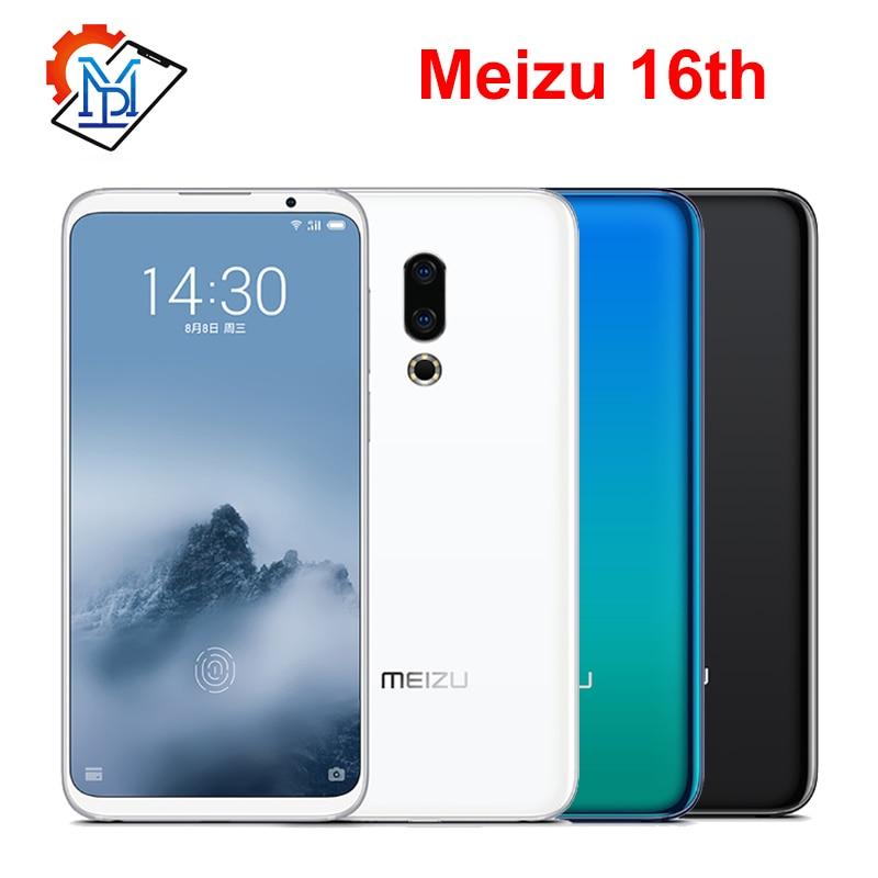 "Original Meizu 16th Mobile Phone 6.0"" Super AMOLED 6GB RAM 64GB ROM Snapdragon845 Octa Core Front 20MP Fingerprint Smartphone"