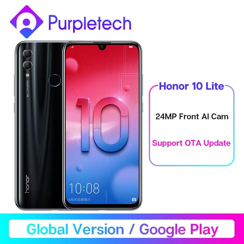 "Global Version Honor 10 Lite Smartphone Kirin 710 Octa Core 6.21"" 2340X1080P 24MP Front Camera Mobile Phone Android 9 OTA"