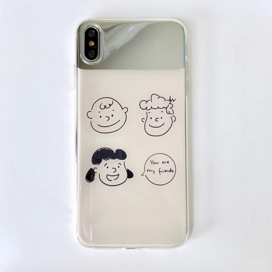 Makeup mirror Phone Cases For iPhone 11 8 7 Plus Case Soft cartoon Charlie Lucy Makeup mirror Phone Cases For iPhone 11 8 7 Plus Case Soft cartoon Charlie Lucy cover For iPhone X XS 11Pro Max XR fundas.