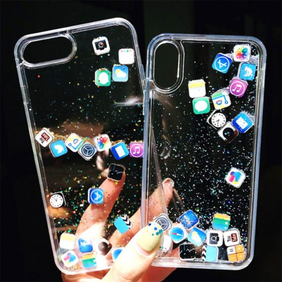 luxury Dynamic liquid Glitter Phone Case For iPhone 11 Pro 6 7 8 Plus Quicksand luxury Dynamic liquid Glitter Phone Case For iPhone 11 Pro 6 7 8 Plus Quicksand Cover Cute APP icon Case For iPhone X XR XS MAX.