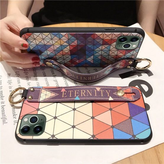Wrist Strap Hand Band Case For iPhone 11 Pro X XS Max Case Soft Silicone Wrist Strap Hand Band Case For iPhone 11 Pro X XS Max Case Soft Silicone Back Cover For iPhone 7 8 6S Plus XR 8Plus Fundas Coque.
