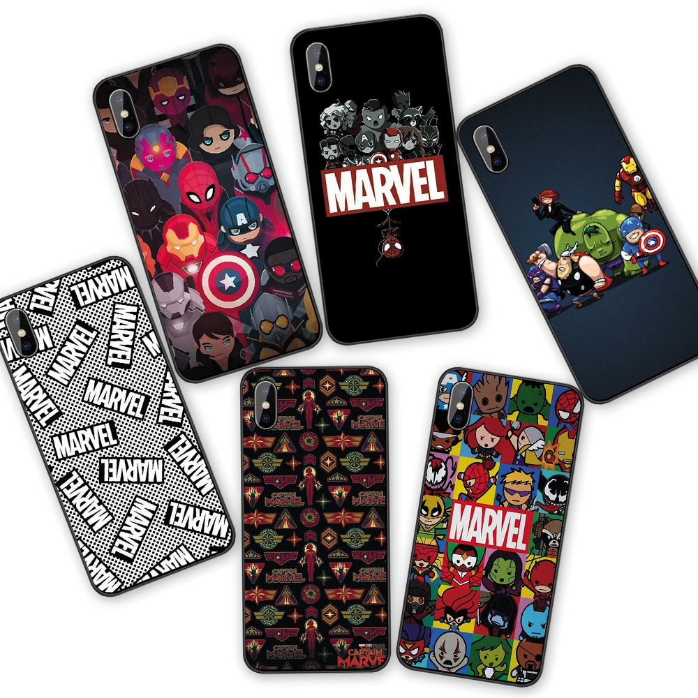 I am Marvel Family Silicone soft Cases cover For iphone XR X XSMAX 5 5S 6 6S 7 8 Plus 11 11ProMax Coque Funda