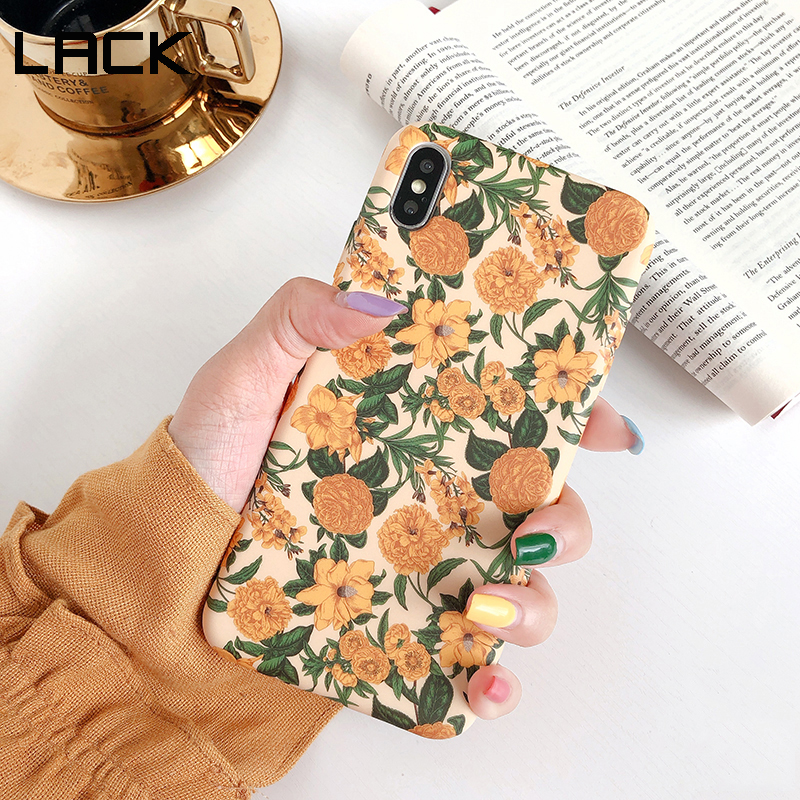 LACK Colorful Flower floral Leaf Phone Case For iphone 8 Plus 6 6S 7 X XS Max XR Case For iphone 11 11Pro Max soft Back Cover