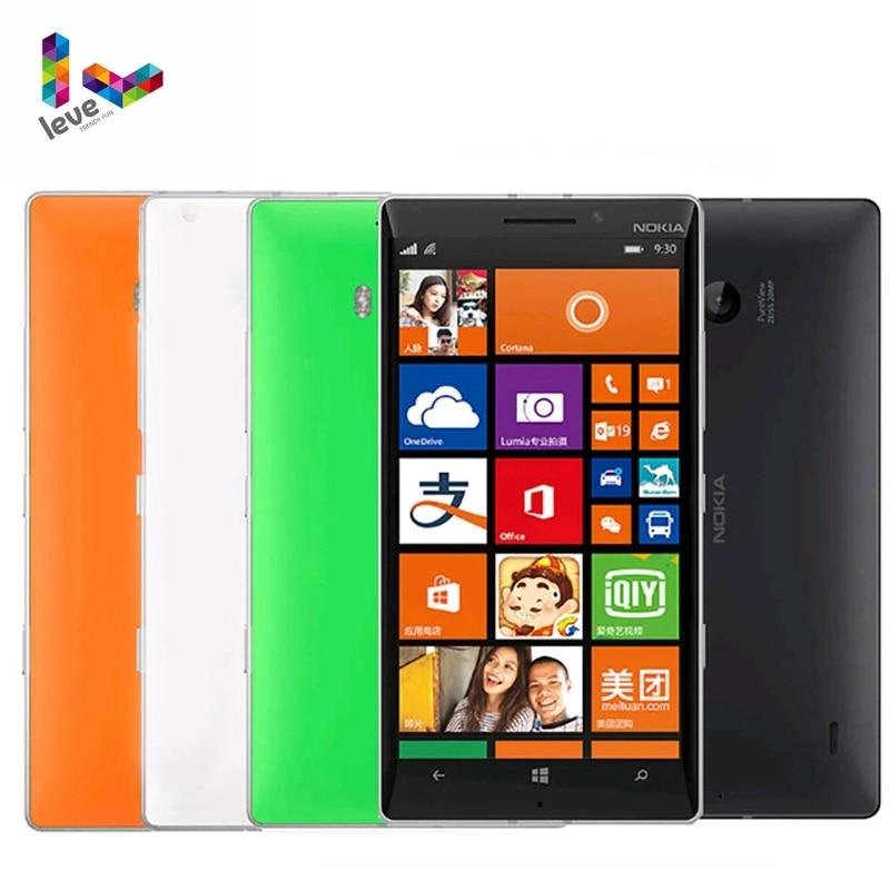 """Nokia Lumia 930 4G LTE Unlocked Mobile phones 5"""" 20MP Camera LTE NFC Quad-core 32GB ROM 2GB RAM Nokia L930 Original Smartphones"""