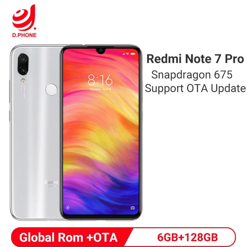 Official Global Rom Xiaomi Redmi Note 7 Pro 6GB 128GB Snapdragon 675 Octa Core Mobile Phone 48MP Dual Camera 4000mAh Smartphone