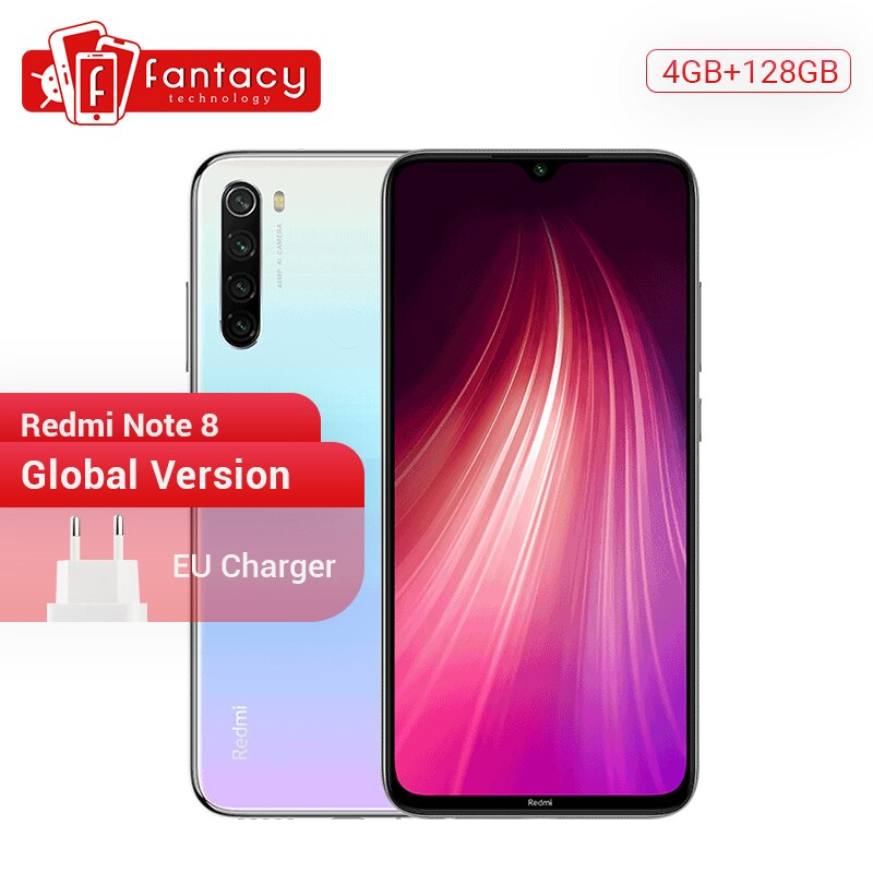 "Global Version Redmi Note 8 4GB 128GB 48MP Quad Cameras Smartphone Snapdragon 665 Octa Core 6.3"" FHD Screen 4000mAh 18W 4K Video"