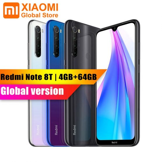 Global Version Xiaomi Redmi Note 8T 4GB 64GB 6.3 Smartphone NFC Snapdragon 665 48MP Camera 18W Quick Charge 4000mAh Mobile Phone