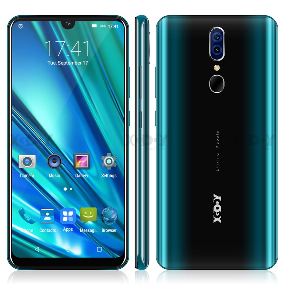 "XGODY 9T Pro 6.26"" 19:9 Smartphone Android 9.0 2GB 16GB Waterdrop Screen Mobile Phone MTK6580 Quad Core Dual Sim GPS 5MP 2800mAh"