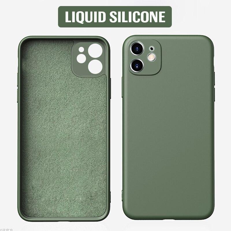 Liquid Silicone Phone Case For IPhone 11 Pro Max Case Shockproof Back Cover IPhone11 Pro Max Case Cover Soft Silicone Case