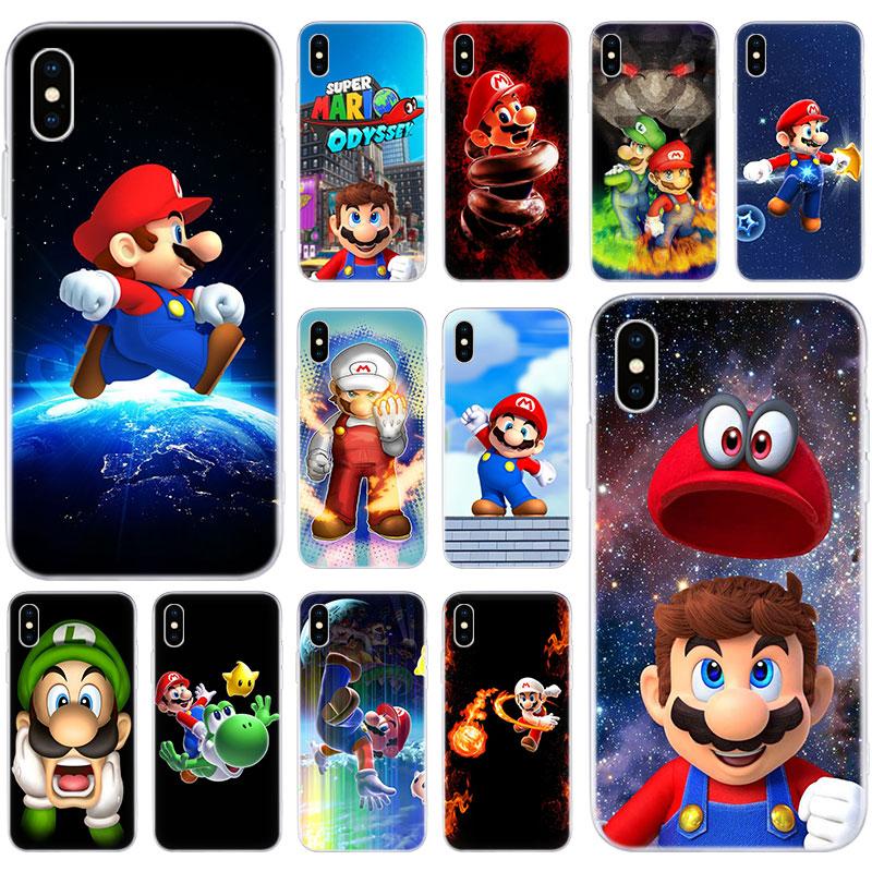 Hot Super mario bros Flexible Soft Silicone Case for Apple iPhone 11 Pro XS MAX X XR 7 8 Plus 6 6s Plus 5 5S SE Fashion Cover