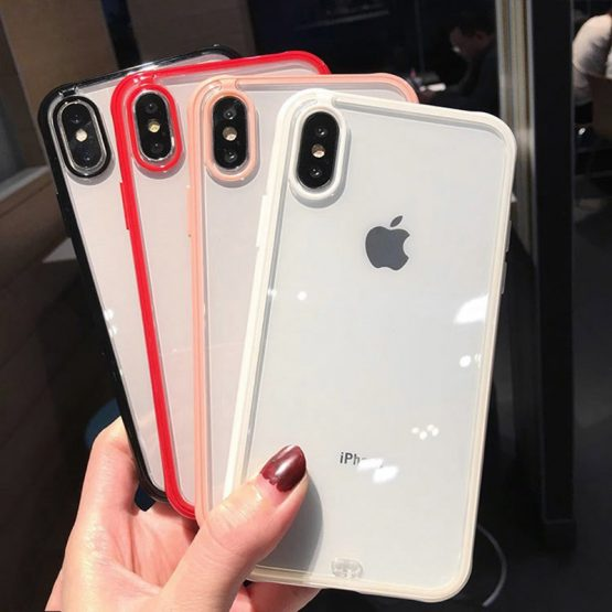 Transparent Shockproof Bumper Silicone Phone Case For iPhone 11 Pro X XS XR XS Max 6 7 8 Plus Clear Soft TPU Back Cover