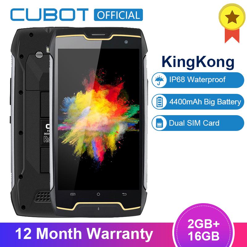 Original Cubot KingKong IP68 Waterproof Smartphone Dustproof Shockproof Cellular MT6580 Quad Core 5.0 Inch HD 2GB 16GB 4400mAh