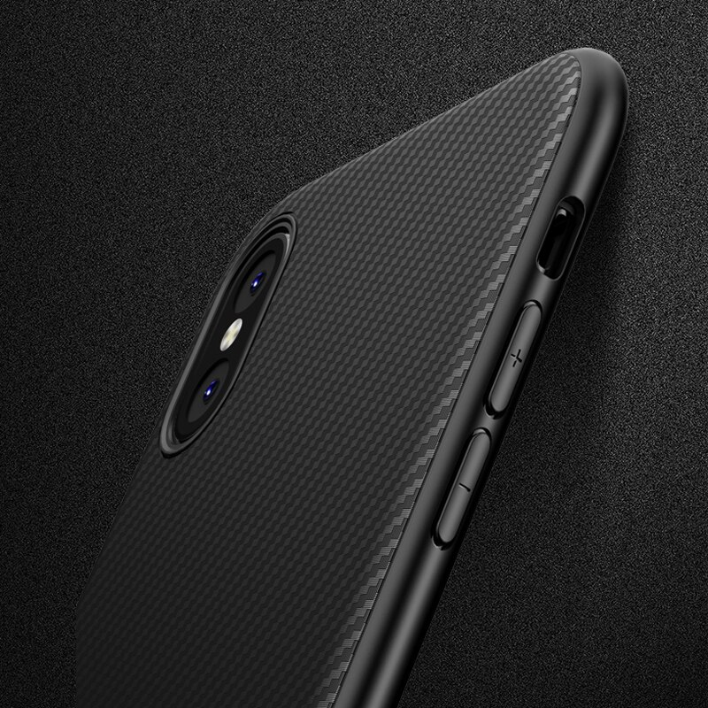 Carbon Case for iphone X 10 iphone XR 8 plus Soft Silicon Luxury Coque Case for iphone 11Pro 7 8 Plus 6S 6 s iphone XS Max Cases