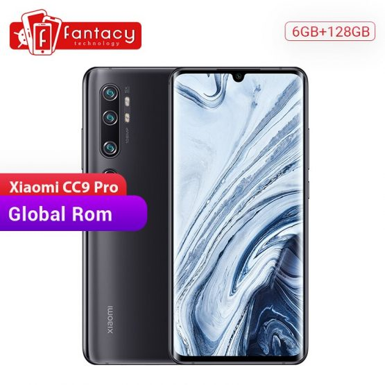 Global Rom Xiaomi Mi CC9 Pro 6GB RAM 128GB ROM Snapdragon 730G Smartphone 108MP Penta Cameras 6.47' AMOLED Curved Screen 5260mAh