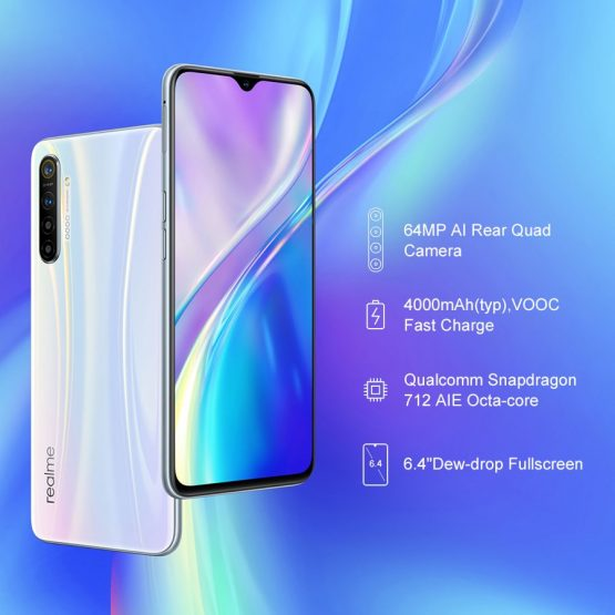 Realme XT 8GB RAM 128GB ROM NFC Mobile Phone Snapdragon 712 AIE 64MP Global Version Realme XT 8GB RAM 128GB ROM NFC Mobile Phone Snapdragon 712 AIE 64MP Quad Camera 4000mAh Fast Charge Smartphone.