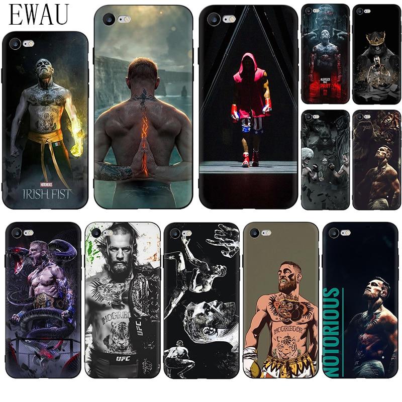 EWAU UFC Conor Mcgregor Soft Silicone phone case for iphone 5 5s SE 6 6s 7 8 plus X XR XS 11 Pro Max