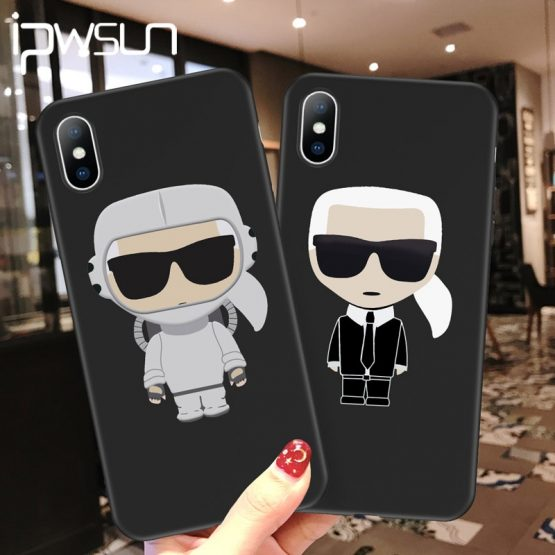 iPWSOO Cartoon Letter Silicone Phone Case For iPhone 11 Pro Max XR XS X Knockproof For iPhone 7 8 6 6s Plus Soft TPU Cover Coque