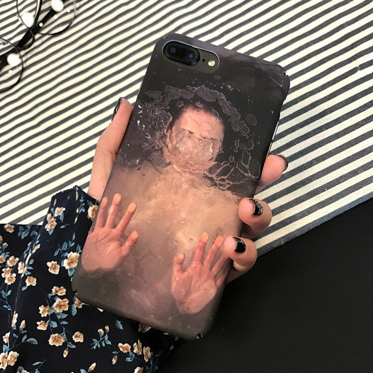 Fashion Abstract Art Underwater Boy&Girl Couple Phone Case For iPhone 11 Pro Max 6 6S 7 8 Puls X XR Xs Xsmax Cases Hard PC Cover