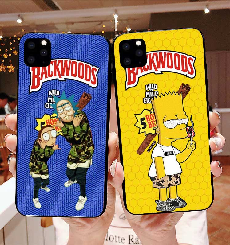 rick and morty backwoods Soft TPU silicone phone cover case for iPhone 11 Pro MAX SE 5 5S 6 6SPlus 7 8Plus MAX XR XS X10