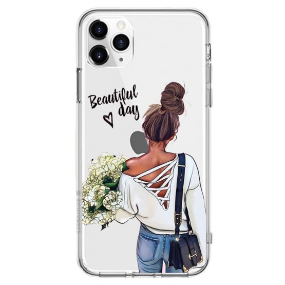 Cute Girl Soft Phone Case For Apple iPhone 11 11Pro Max Baby Women Cute Girl Soft Phone Case For Apple iPhone 11 11Pro Max Baby Women Mom Silicone Cover For iPhone 6s 7 8 Plus 5S SE X XS XR Case.