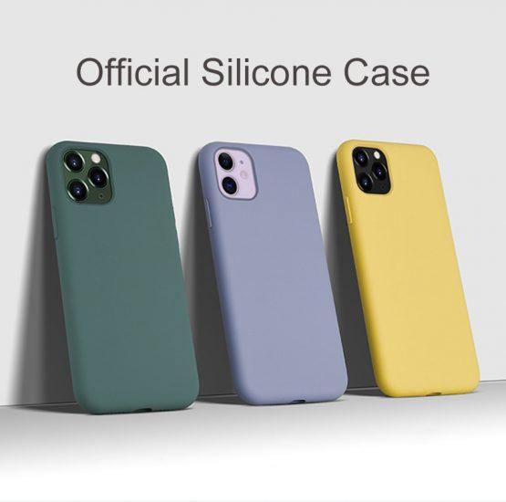 Arvin Original Case for iPhone 11 X XS Max XR 7 8 Plus 6 6s Case Soft Liquid Silicone Microfiber Cover for iPhone 11 Pro Max