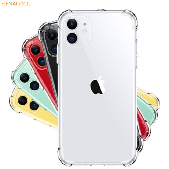Luxury Shockproof Transparent Silicone Phone Case For iPhone 11 Pro X XR XS Max 8 7 6 6S Plus TPU Clear Cover For iPhone 5 Case