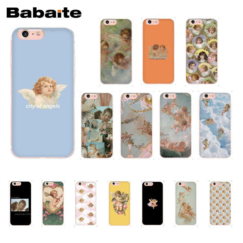 Babaite Renaissance angels Phone Case For iphone 11 Pro 11Pro Max 8 7 6 6S Plus X XS MAX 5 5S SE XR