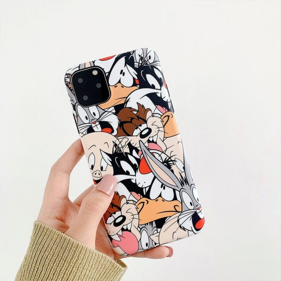 Cartoon Rabbit Wolf dog Phone Case for iphone 11 11Pro Max XS Max XR XS Soft silicone tpu case For iphone 7 8 6 6S Plus shell