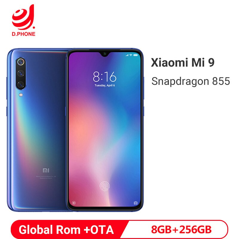 "Global ROM Xiaomi Mi 9 Mi9 8GB 256GB Smartphone Snapdragon 855 Octa Core 6.39"" AMOLED Display 48MP Triple Camera Mobile Phone"