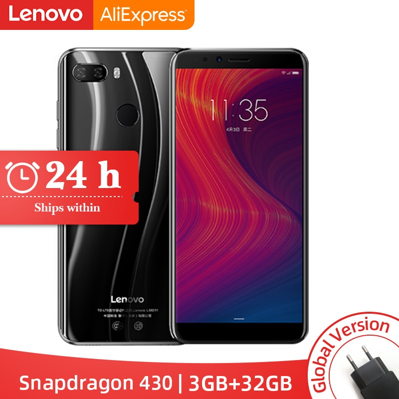 "Stock Global Version Lenovo K5 Play 3GB 32GB Snapdragon 430 Octa Core Smartphone 1.4G 5.7"" 18:9 Fingerprint"